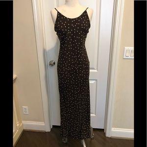 Jil sander brown silk maxi dress Sz.38